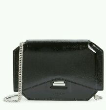 $1490 Givenchy Patent Leather Bow Cut Shoulder Bag NWT