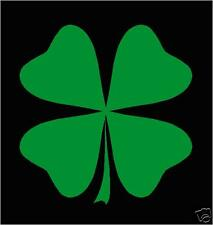Shamrock, Four leaf clover, St. Patric's, cut vinyl sticker/decal KELLY GREEN