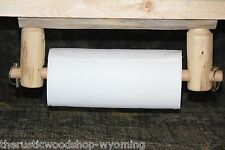 Rustic Pine Log Paper Towel Holder - Cabin, Lodge, Country Furniture Decor