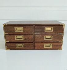 MCM Miniature Wooden Chest Of Drawers Dresser Salesman Sample Mid Century