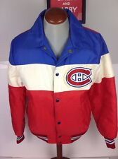 Vintage 1970s 80s NHL Montreal Canadiens Lined Satin Jacket by Shain Size Medium