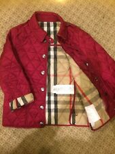 Burberry Toddler Girls  Red  Jacket Sz 4Y/104 Cm
