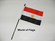 "EGYPT SMALL HAND WAVING FLAG 6"" x 4"" Egyptian Africa Crafts Table Desk Display"