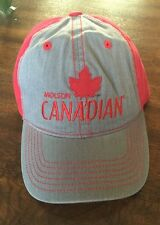 Molson Canadian beer cap hat snapback adjustable 100% Cotton