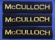 3 Lot Vintage McCulloch Chainsaw Go Kart Motor Racing Lumberjack Patches Crests