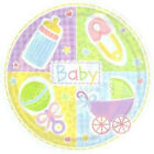 BULK PACK 18 Baby Shower Party Plates-Unisex Theme/Baby Shower Parties Supplies