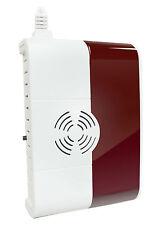 Funk Gasmelder & Alarm Sirene, Gas Warner, Funk System für GSM Alarmanlagen