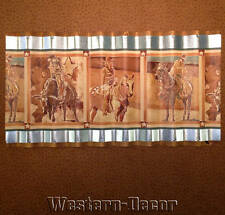 Wiggle Art Metal Western Horse Cowgirl Cowboy Rodeo Wallpaper Border Picture