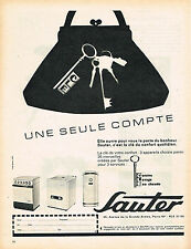 PUBLICITE ADVERTISING 024   1961   SAUTER     chauffage chaudière