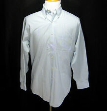 Mens BROOKS BROTHERS Blue Plaid Non-Iron Button Down Front Shirt Size 15.5 33