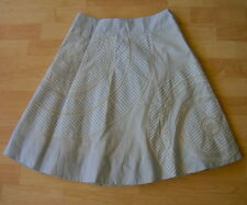 $128 FLOREAT Anthropologie Striped Circle Embroidery Skirt Size 6 NWT