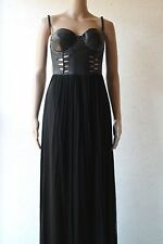 WILLOW Corset silk Tulle dress in black NWT sz 12