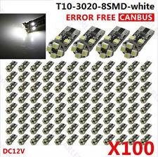 100pcs T10 168 194 White 8LED 3020 SMD Car CANBUS Error Free Auto Light Bulb