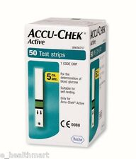 Accu-Chek 50 Test Strips for Active Glucometer with Chip Exp - Jan 2018