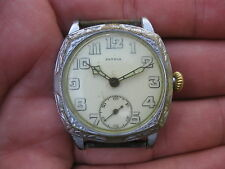 Patria Omega WWI Era Men's Mechanical Watch - Serviced! trench military antique