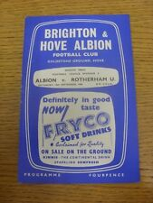 10/09/1960 Brighton And Hove Albion v Rotherham United  (Light Crease, Score Not