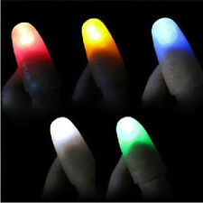 2x Funny Party Magic Light Up Thumbs Fingers Trick Appearing Light Close Up