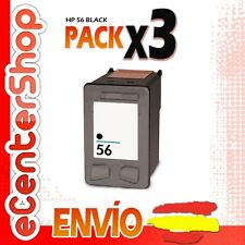 3 Cartuchos Tinta Negra / Negro HP 56XL Reman HP Digital Copier Printer 410