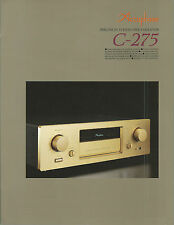 Accuphase C-275 Katalog Prospekt Catalogue Datasheet Brochure