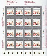 Canada 1992 Masterpieces of Canadian Art sheet of 16 stamps CA157001