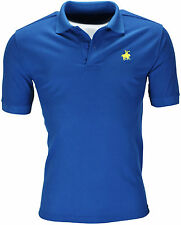 New Mens Polo Shirt Short Sleeve Plain Top Designer Style Fit T Shirt Horse Pony