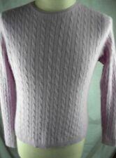 Cashmere Sweater size XL Purple Lavender Valerie Stevens 2 Ply Cashmere BB