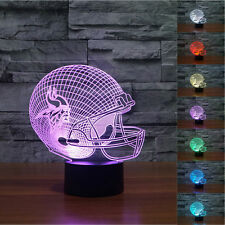New NFL Minnesota Vikings 3D Night Light 7 Color Change LED Table Lamp Gift