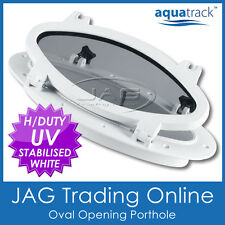 AQUATRACK OVAL OPENING PORTHOLE - Marine/Boat/RV Portlight Access Hatch Window