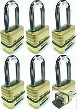 Combination Lock Set Master 1175LH (Lot 6) Resettable Long Brass Sealed Carbide