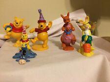 Lot of 5 Winnie the Pooh PVC Figurines Cake Toppers Kanga Roo Eeyore Rabbit