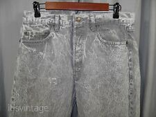 Vintage 1980's Levis 501 Gray White Acid Stone Wash Straight Leg Denim Jeans 80s