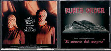 CD RUNES ORDER IL SONNO DEL SOGNO  MUSIC FROM THE PERFORMANCE 2000 FRAGOLE REC