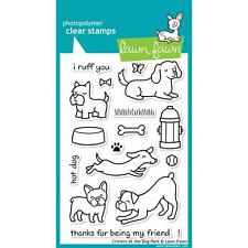 LAWN FAWN RUBBER STAMPS CLEAR CRITTERS AT THE DOG PARK STAMP SET