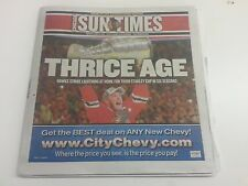 2015 Chicago Blackhawks Stanley Cup Champs Sun-Times 6/16/15 Jonathan Toews