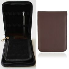 New Fashion Fountain Pen Roller Pen PU Leather Case Pouch Bag For 12 Pens @b