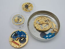 Used watch parts for ETA Cal. 956. 112 & 955. 112 lot of 4 parted out movements