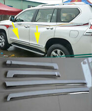 Body Side Molding Cover Trim For 2014-2016 Toyota LAND CRUISER PRADO FJ150 White