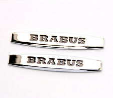 2x High quality Brabus Emblems Badge Side Sticker 3d for Mercedes Benz Brabus YU