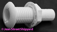 Marine Boat White Nylon 3/4 in Barb Bilge Pump Thru Hull Fitting Seachoice 18051