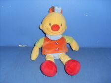 JUIN16/ DOUDOU PELUCHE NATTOU BILLY TIM ORANGE JAUNE BLEU NEZ ROUGE