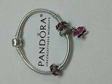 Authentic PANDORA Loving Radiant Orchid Charm & Ruby Spacers Gift Set 791307 New
