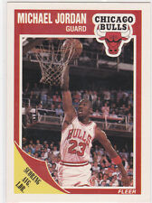 MICHAEL JORDAN 1989 Fleer CHICAGO BULLS Basketball Scoring Avg. Leader $$ CARD