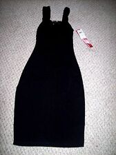 HOT KISS Black Sexy  Sleeveless Form Fitting Dress Size Small NWT $49