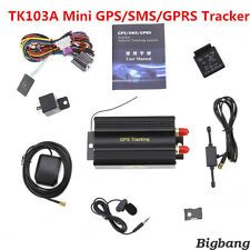 Fitting GPRS GSM SMS Vehicle Car GPS Tracker TK103A Tracking Device Alarm System