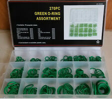 2015 Assortment Set 270PC O-ring Kit Green Metric O-ring Seals Nitrile Rubber