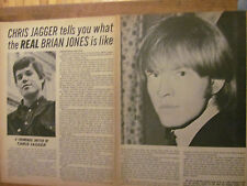 The Rolling Stones, Two Page Vintage Clipping, Brian Jones