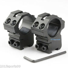 "Scope Rings 1"" Diameter For 22 cal /Air Rifle Medium 3/8 Inch Dovetail Mount #2"