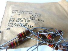 20 x Kohlemasse Widerstand 12 KOhm, 1 W, Carbon Comp Resistors