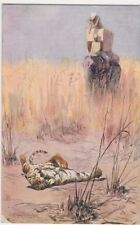 Edgar H. Fischer, Tiger Hunting, Tuck 8780 Art Postcard, B673