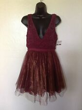 New With Tags $300 Free People Deja Vu Mini Dress*Embroidery/Tulle Skirt*Sz 2